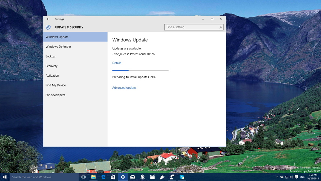 Windows 10 build 10576 rolls out to the Fast ring