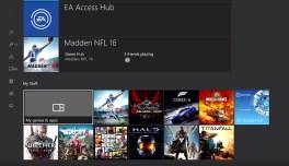 Windows 10 for Xbox One dashboard