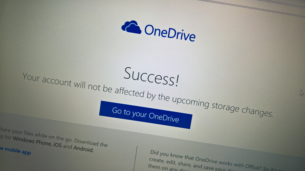 Microsoft lets OneDrive users keep their free storage, but it's opt