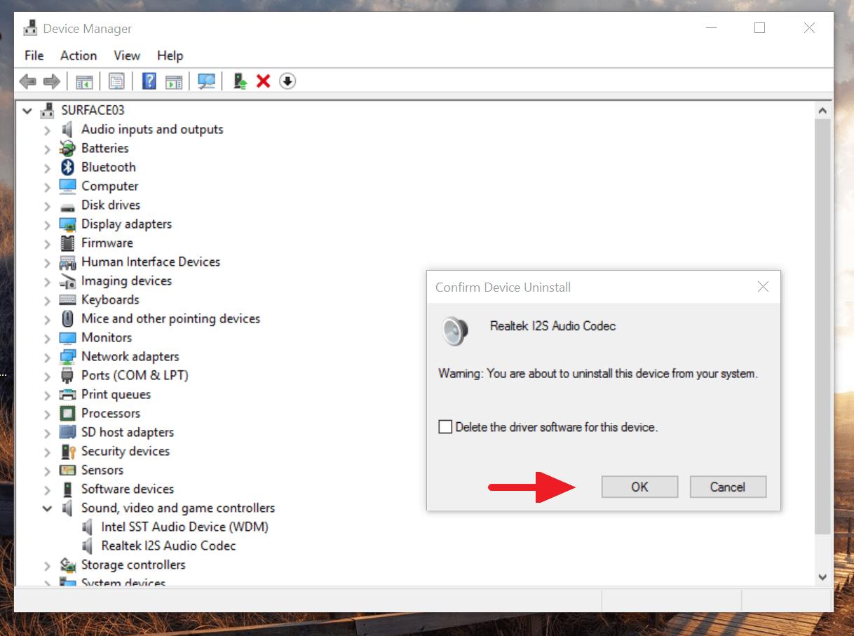Intel SST Audio Controller Treiber Windows 10