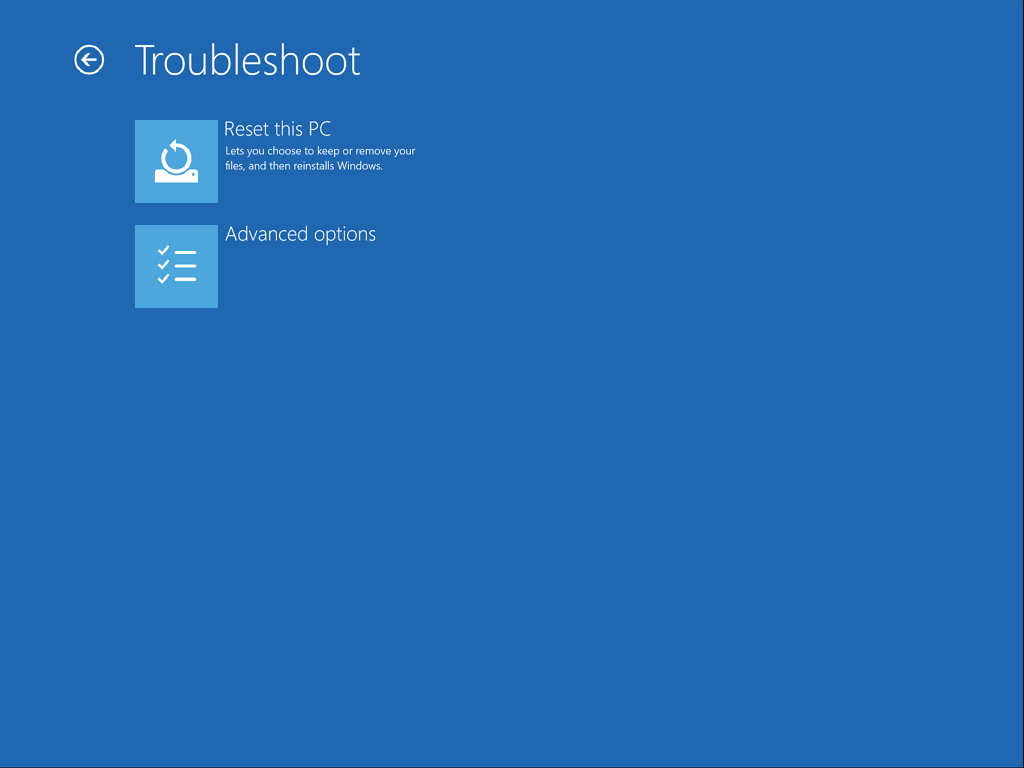 How to access Advanced startup options on Windows 10 to troubleshoot