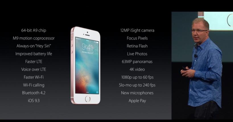 Apple iPhone SE Tech Specs