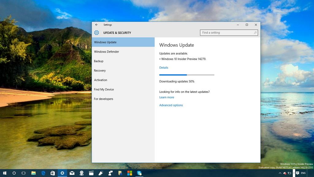 Windows 10 build 14279 download