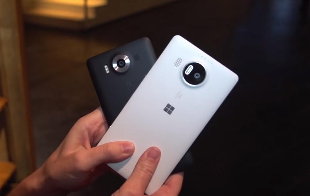 Windows 10 Mobile Lumia 950 XL and Lumia 950 (white and black)