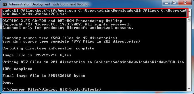 Create a Windows 7 ISO file with the Convenience Rollup update