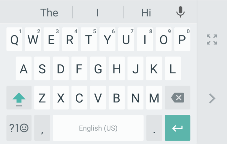 Google Keyboard one-handed mode