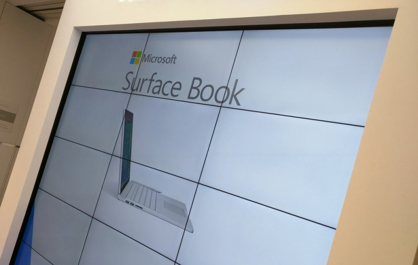 Surface Book at the Microsoft Store NYC