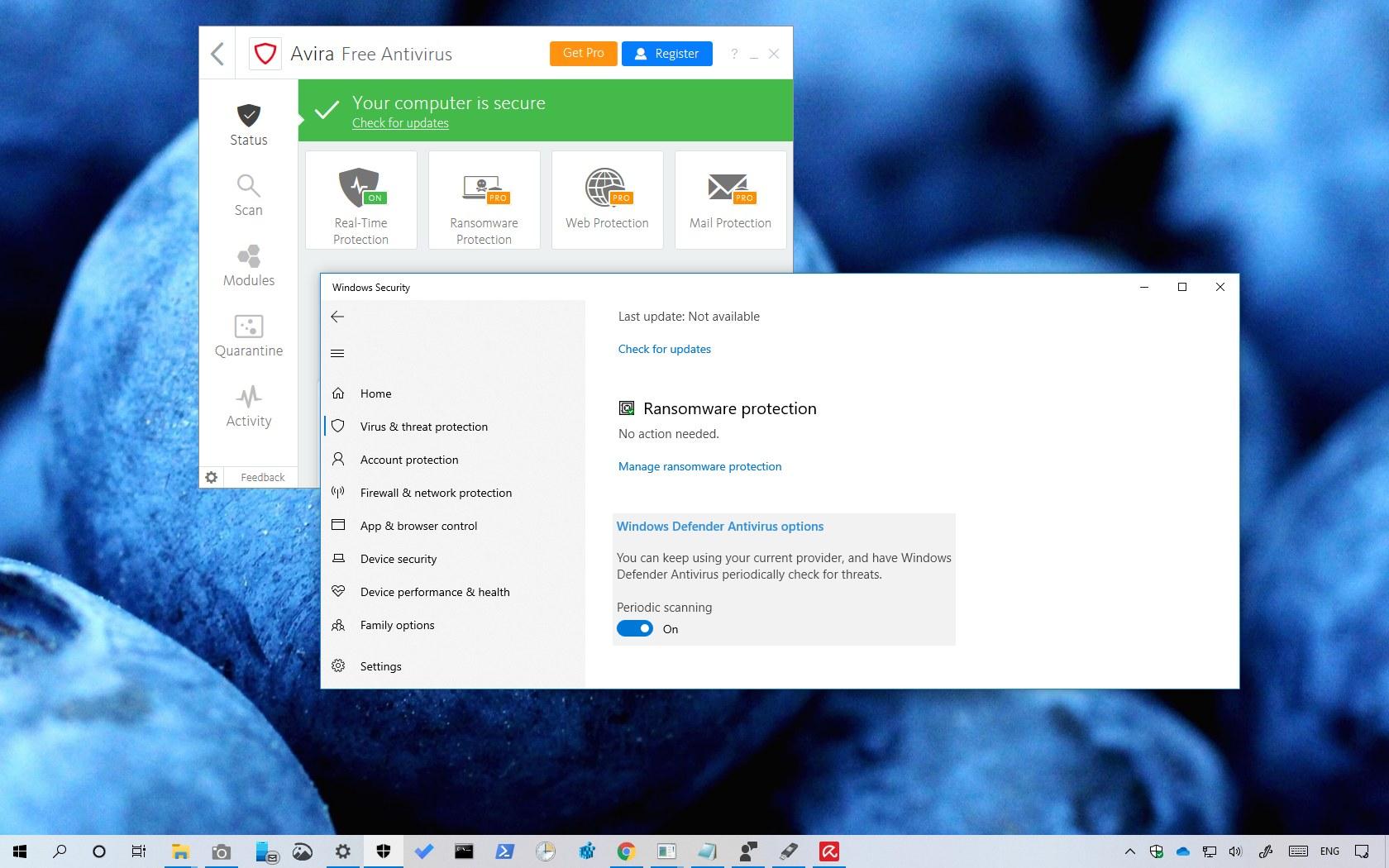 Enabling Windows Defender Antivirus Periodic scanning feature