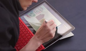 Surface Pro 4 with red Type Cover