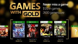 August 2016 Xbox Games with Gold