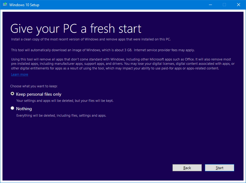 Give your PC a fresh start with a clean installation