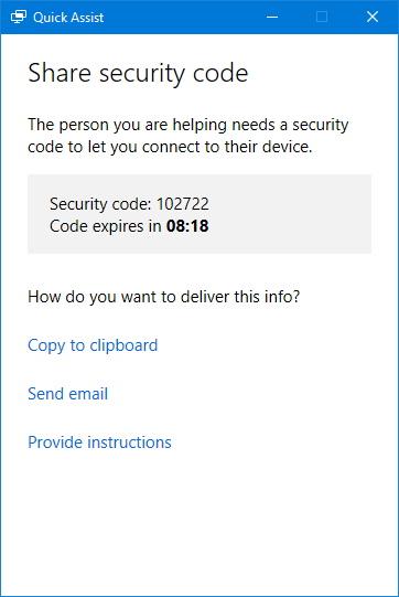 quick-assist-security-code