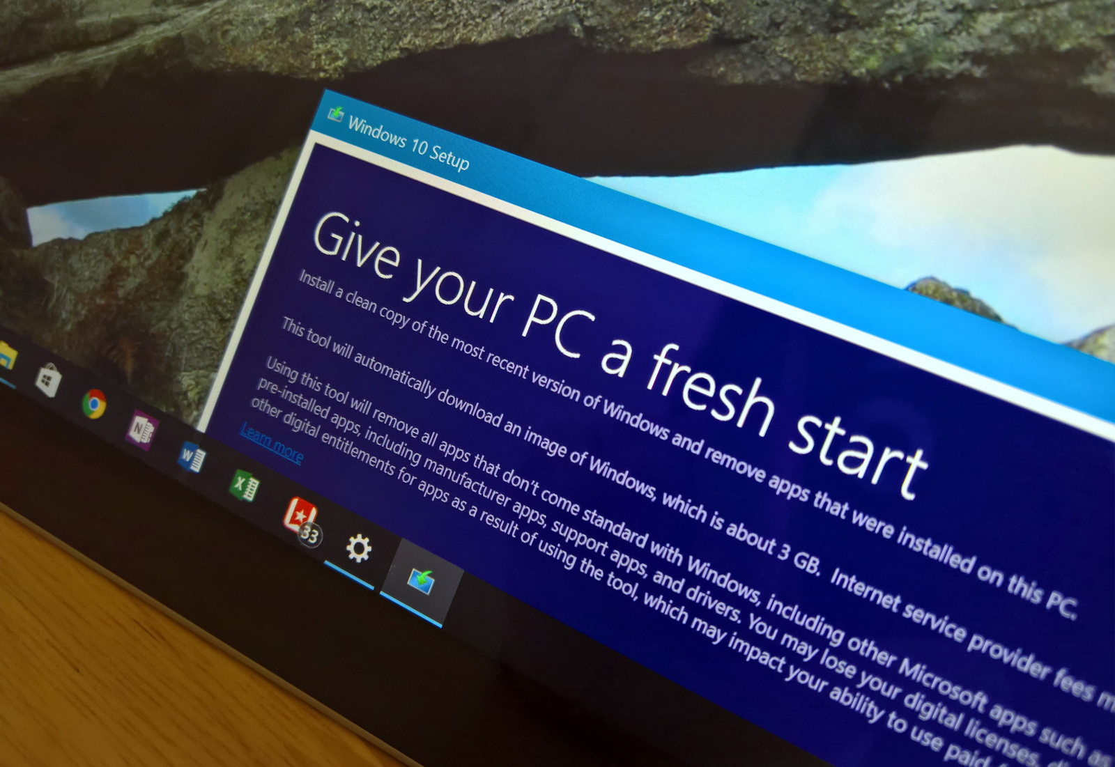 Refresh Windows tool to do clean installation