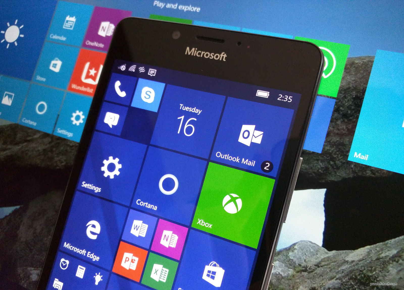 Windows 10 Mobile Anniverary Update (Lumia 950)