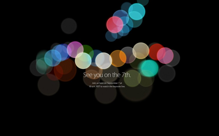 Apple live stream September 2016