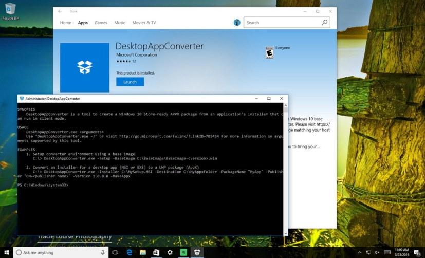 DesktopAppCoverter for Windows 10
