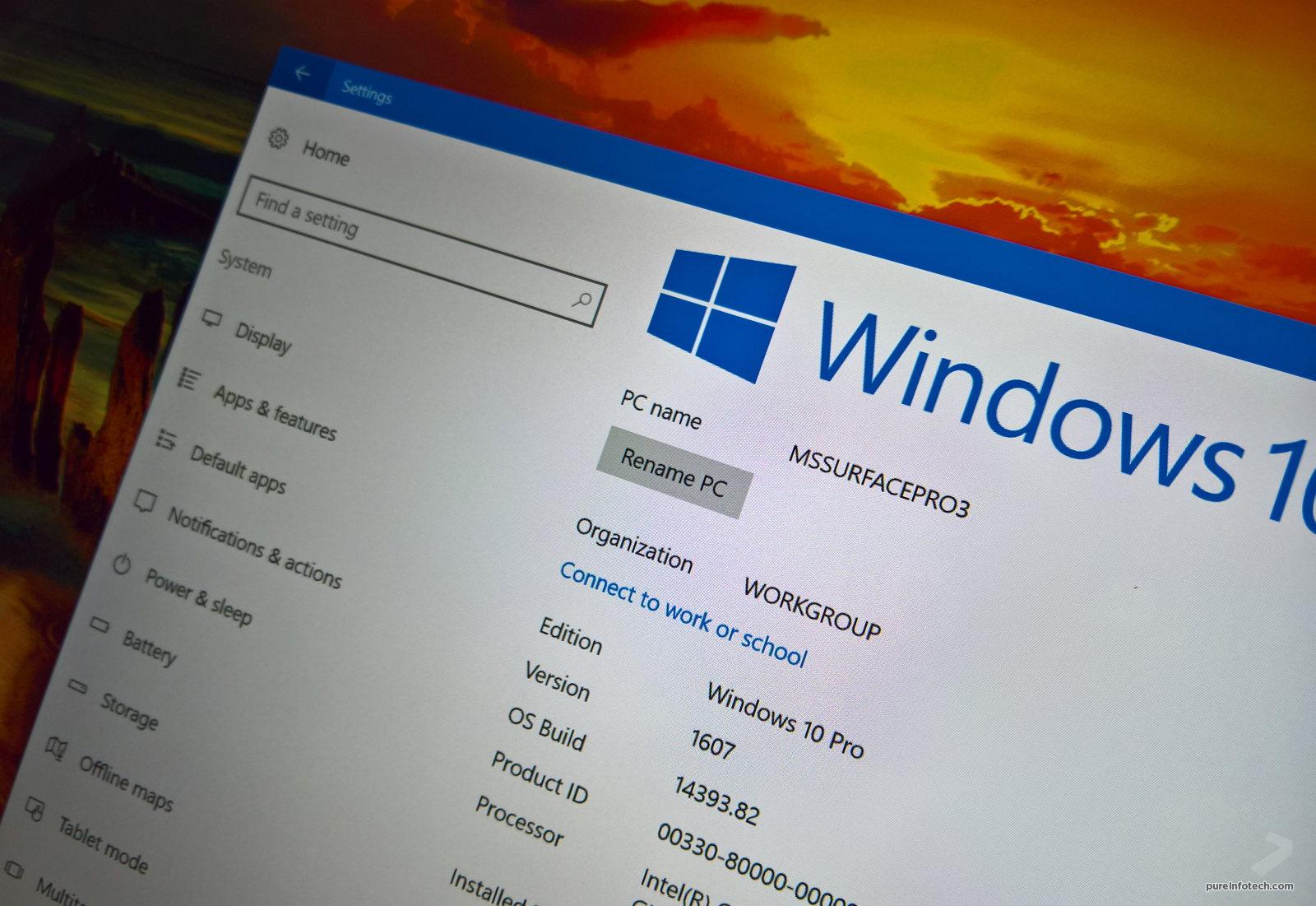 Windows 10 Rename PC