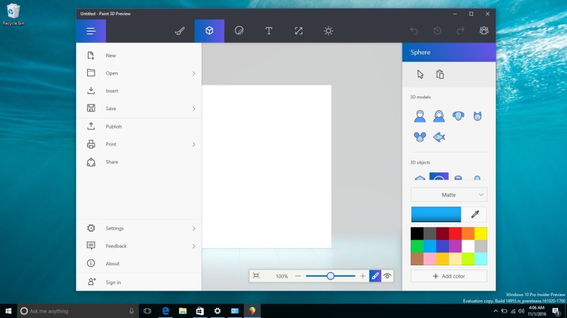 Paint 3D for Windows 10