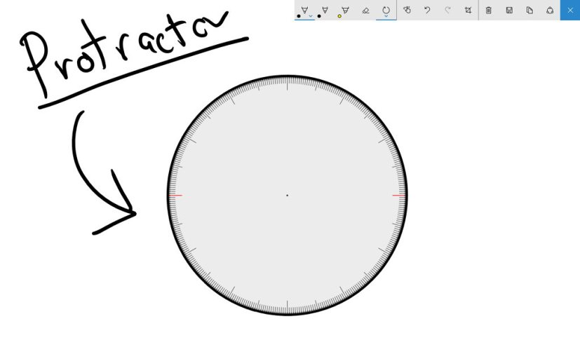 Windows Ink Protractor