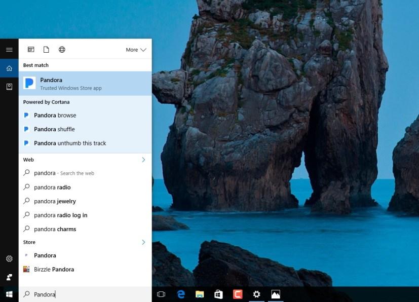 Cortana command suggestions