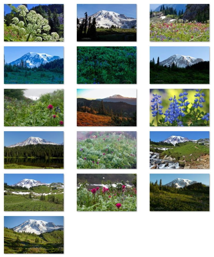 Mount Rainier wallpapers for Windows