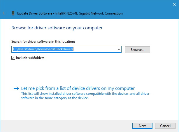 Device Manager restore device driver