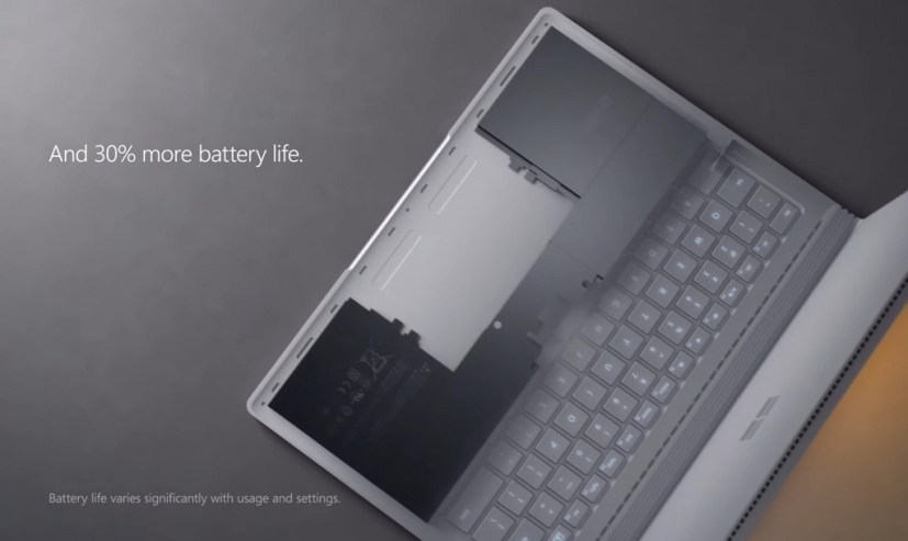 Surface Book with 30% more battery life