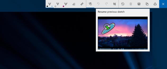 Windows Ink resume previous sketch