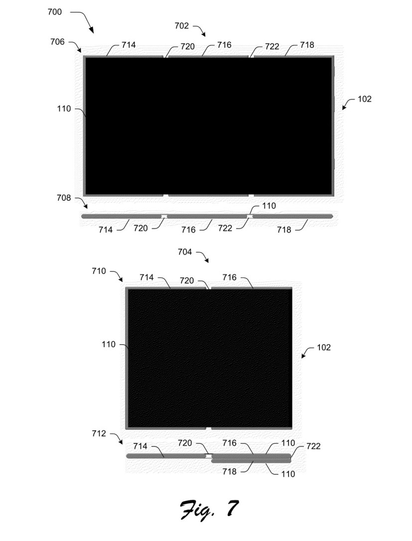 Microsoft patent mockup: device with screen unfold