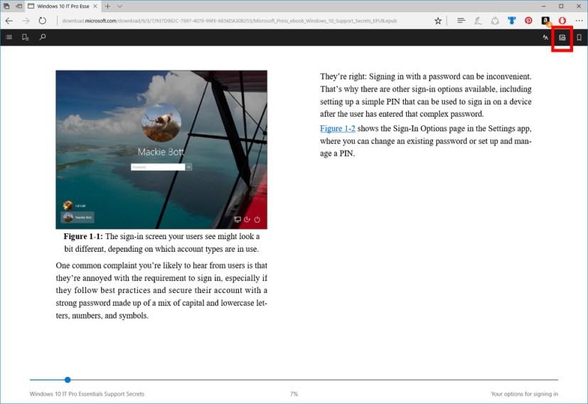 Microsoft Edge Read Aloud feature