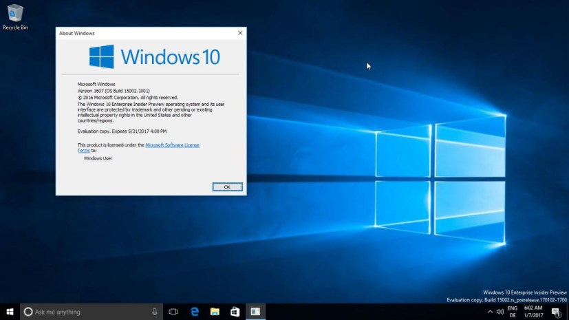 Windows 10 build 15002