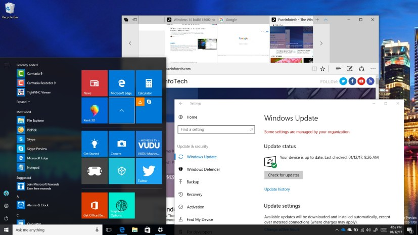 Windows 10 Creators Update (build 15002)