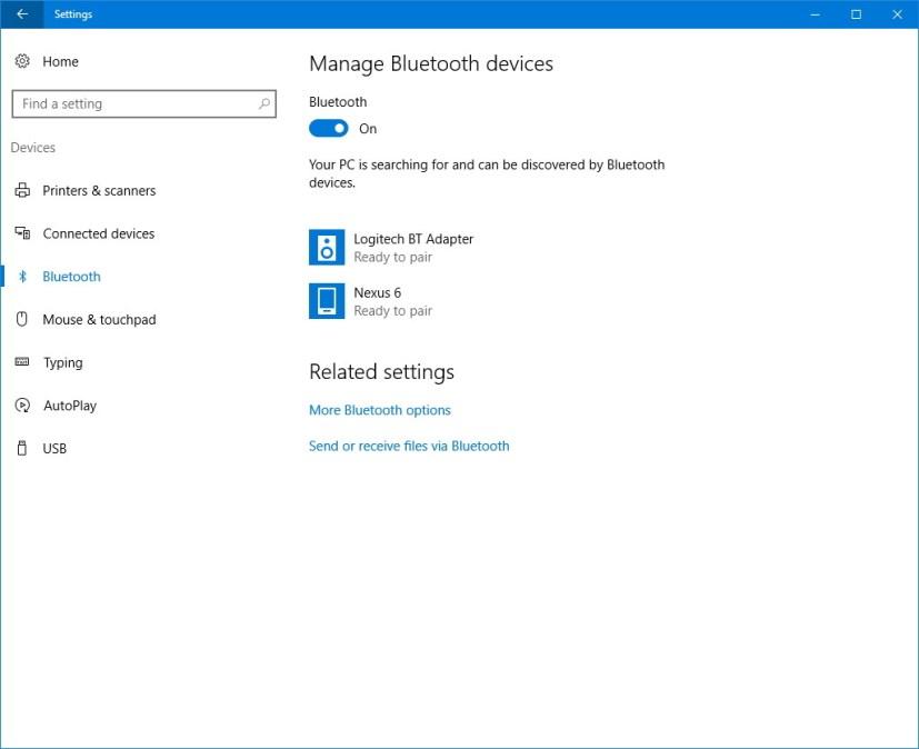 Bluetooth customization settings