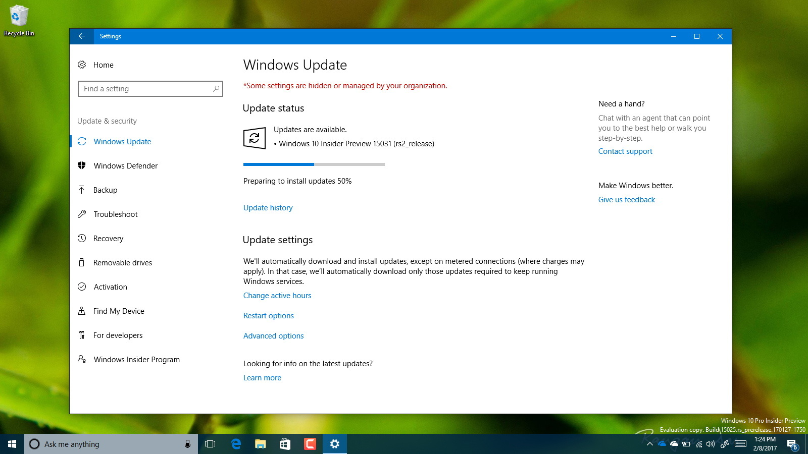 Windows 10 build 15031