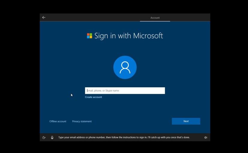 Windows 10 Creators Update new OOBE
