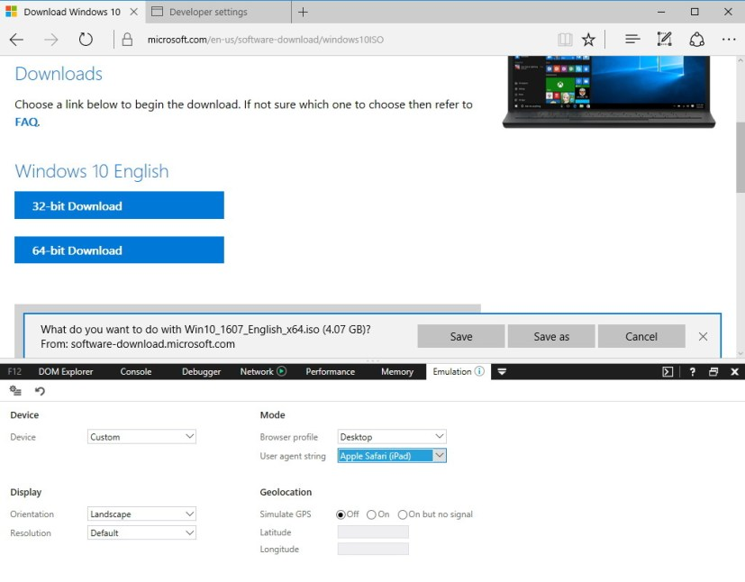 Download Windows 10 ISO without Media Creation Tool
