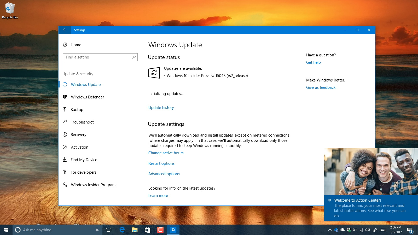 Windows 10 build 15048 download