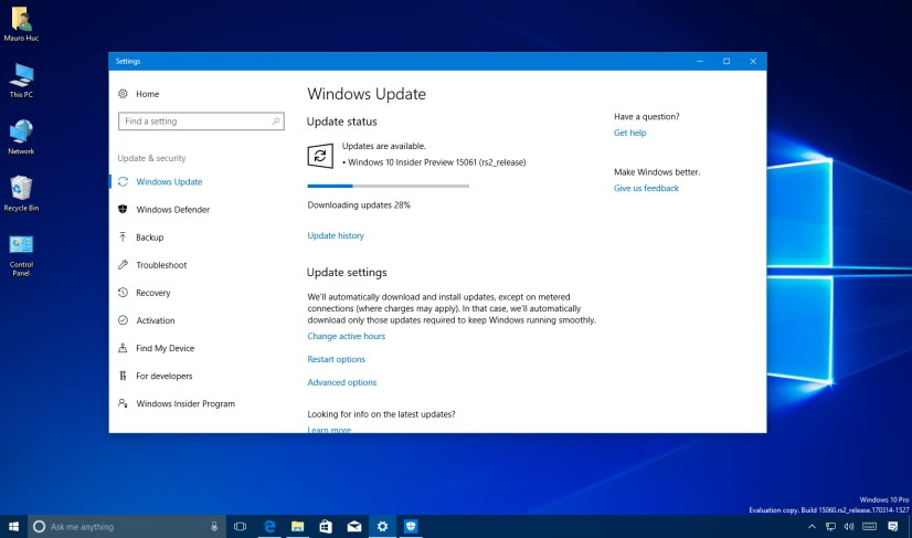 Windows 10 build 15061