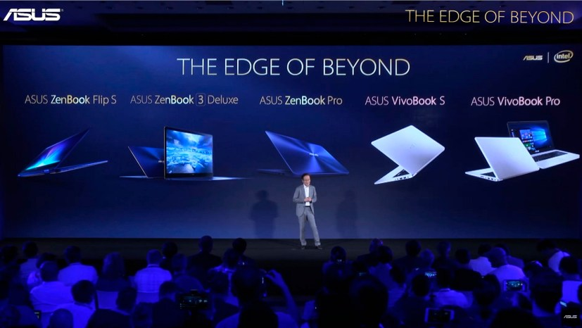 Asus laptop at Computex 2017