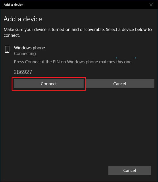 Connect Bluetooth device on Windows 10