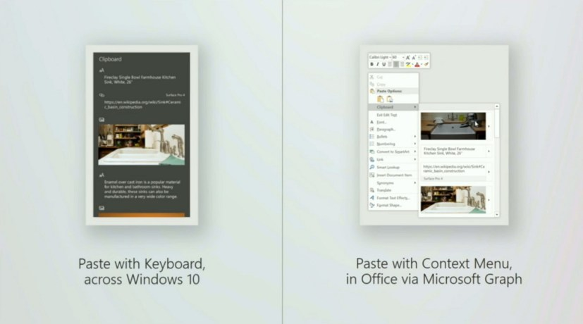 Microsoft cloud-powered Clipboard