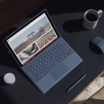 Surface Pro with cobalt blue type cover