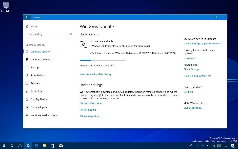 how to update windows 10 build