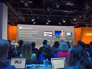Windows 10 S and Surface Laptop Microsoft event (Terry Myerson on stage)