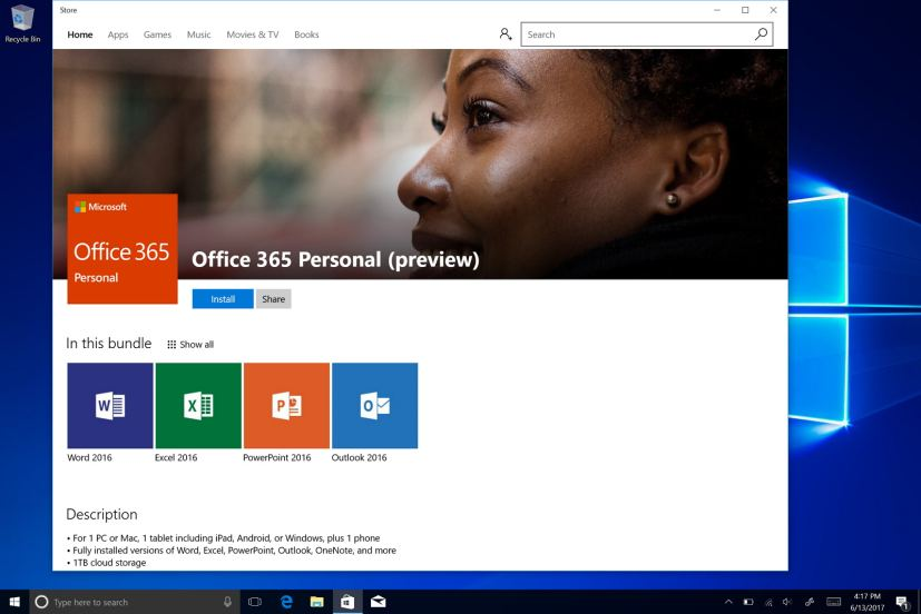 Microsoft Office in the Windows Store
