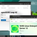SUSE Linux for Windows 10 in the Store ready for download