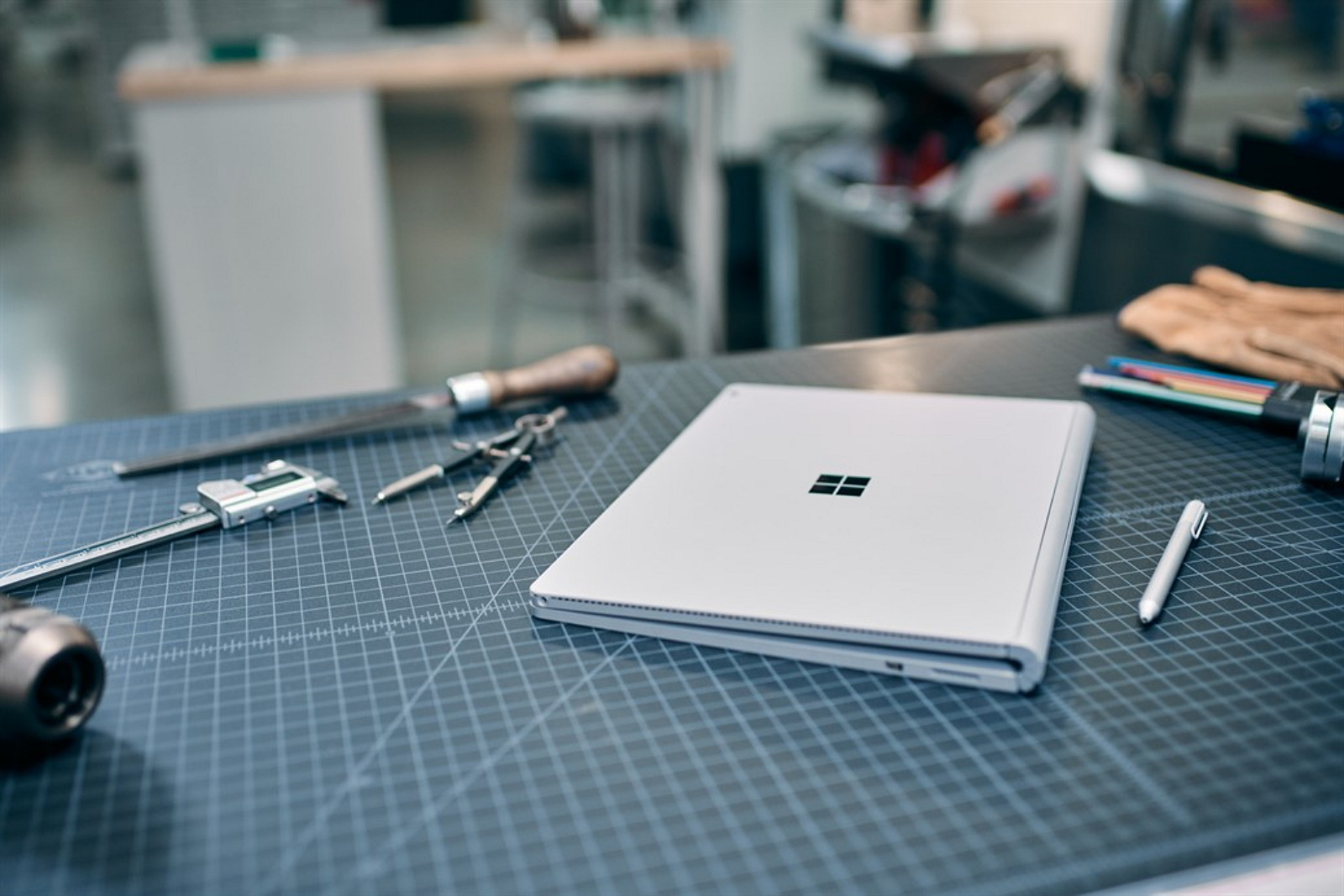 Surface Book on drafting table