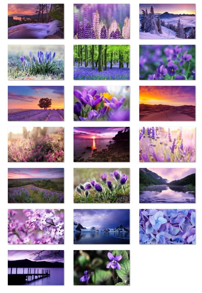 Purple World landscapes wallpaper samples