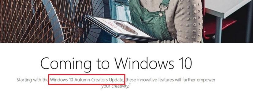 Windows 10 Autumn Creators Update reference