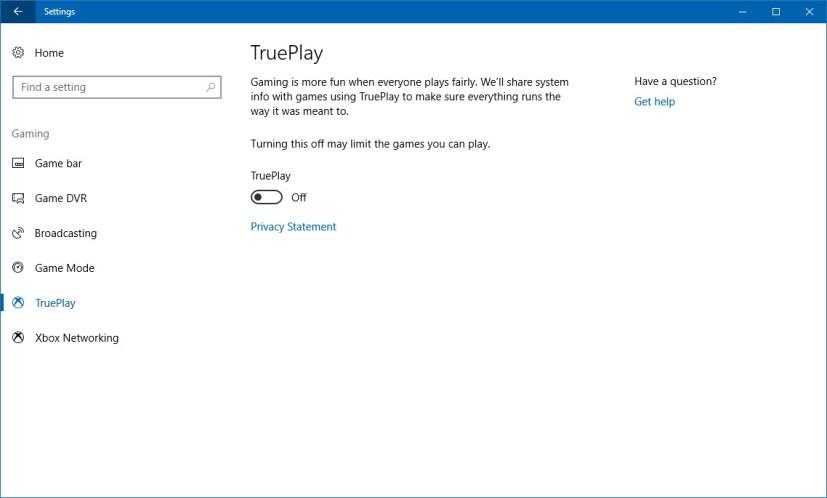 TruePlay settings
